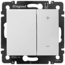 Legrand Valena Светорегулятор клавишный 40-600 Вт. для ламп накаливания и галог. ламп белый глянец 770074