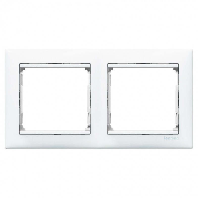 Legrand Valena Рамка двойная, белый глянцевый 774452