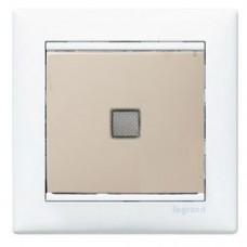 Legrand Valena Выключатель одноклавишный проходной с подсветкой 10А/250В, кремовый глянцевый, 774326